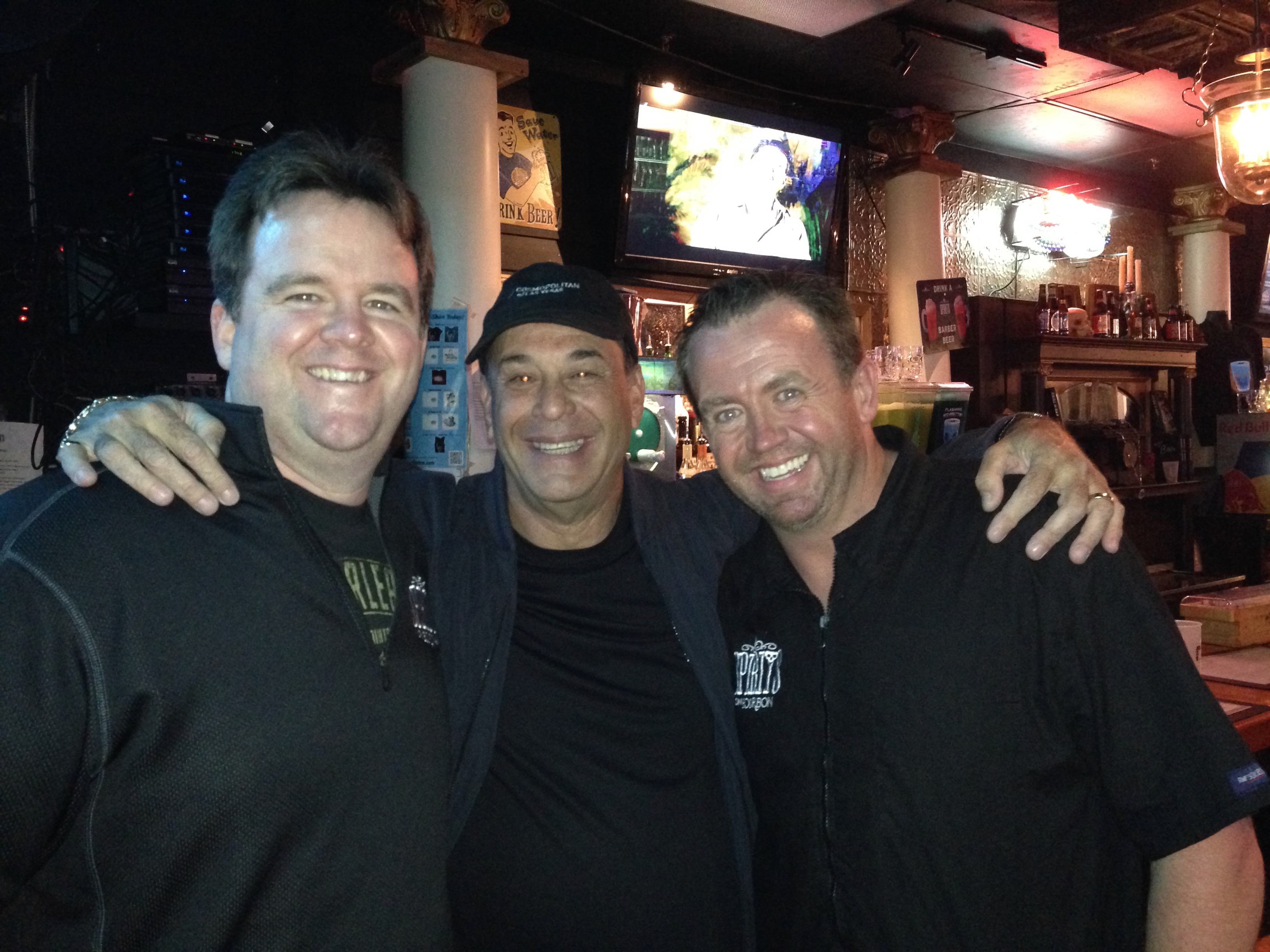 Jon Taffer (center) with Spirits on Bourbon owners Steve Smith (left) and Brad Bohannan (right).